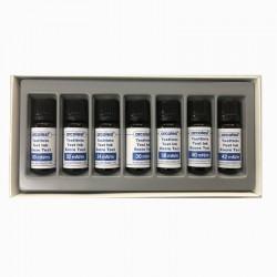 Set de líquidos de test azul
