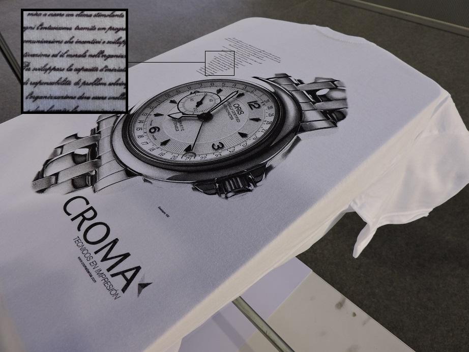 Serigrafía realizada con Goccopro donde se aprecia macizos, degradados y detalles finos.