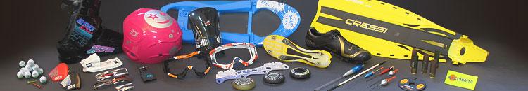 Artículos deportivos tampografiados con los mejores consumibles para tampografía