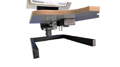 Sistema regulación brazo serigrafía Pelícano